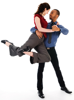 Company dance classes - couple dancing