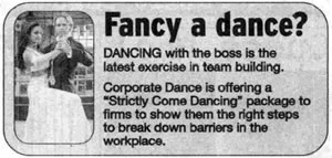 Cambridge News - Corporate Dance article
